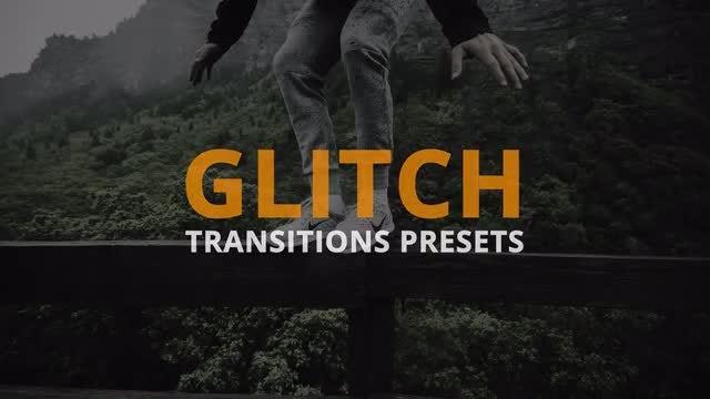 Glitch Transitions Presets: Premiere Pro Presets