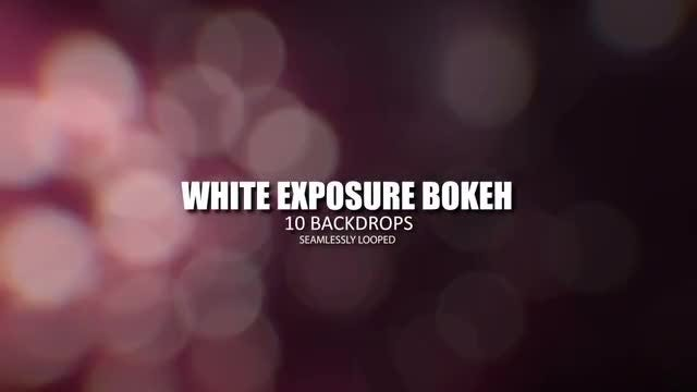 White Exposure Bokeh: Stock Motion Graphics