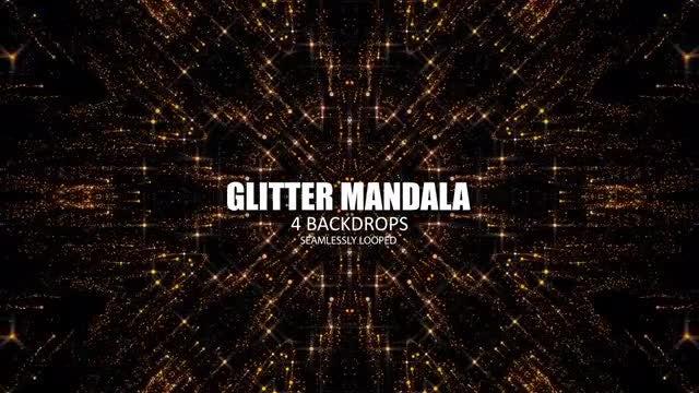 Glittery Star Mandalas Pack: Stock Motion Graphics