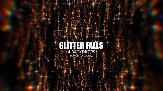 Glitterfalls Pack: Stock Motion Graphics