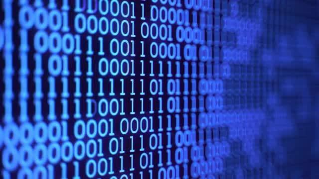 Digital Binary Code: Stock Video