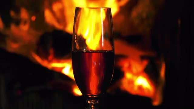 Wine And Fire: Stock Video