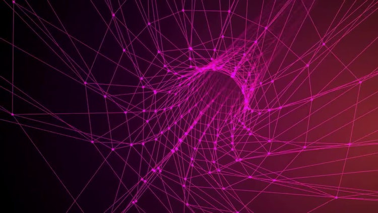 Pink Wireframe Tunnel: Stock Motion Graphics