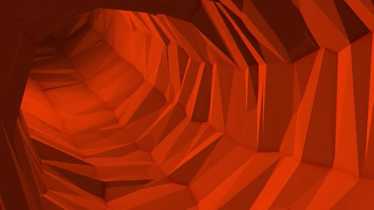 Red Poly Tunnel: Motion Graphics