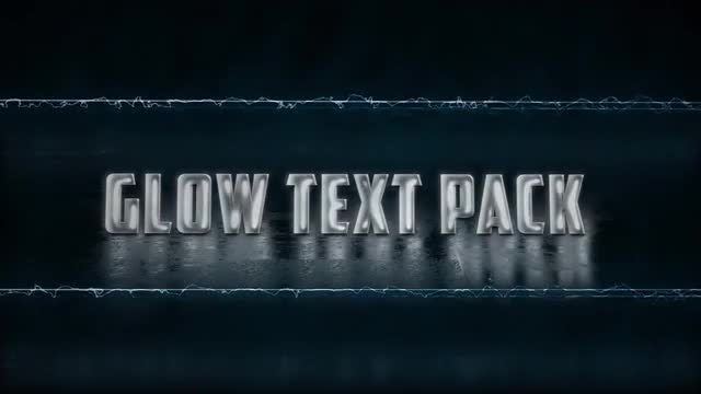 Glow Text Animations: Motion Graphics Templates