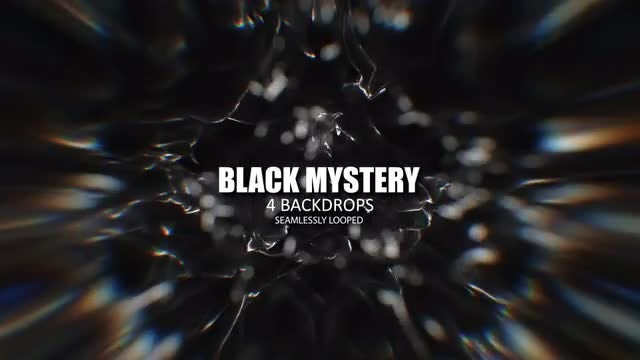 Black Mystery Abstract Patterns Pack: Stock Motion Graphics