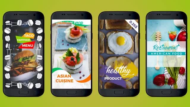Insta Food Stories: Motion Graphics Templates