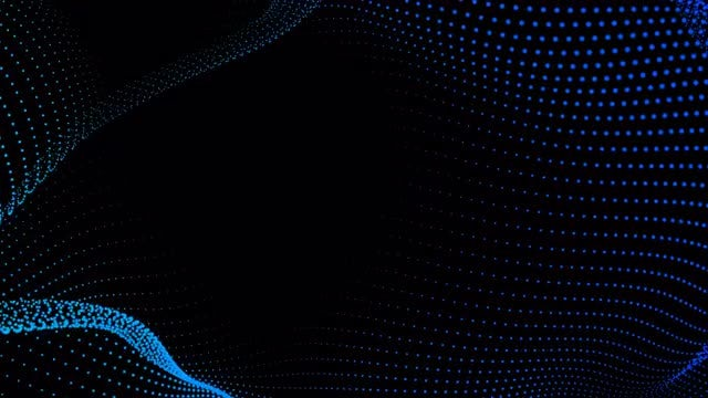 Motion Of Neon Dots Background: Stock Motion Graphics