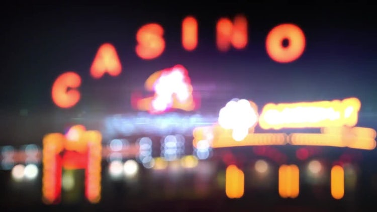 Outside Casino At Night: Stock Video