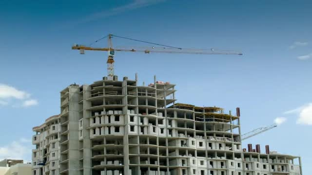 Building Construction Time Lapse: Stock Video
