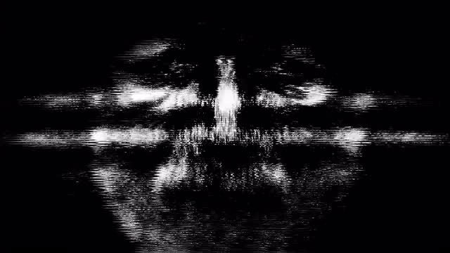 Glitch Scary Face 4K: Stock Motion Graphics