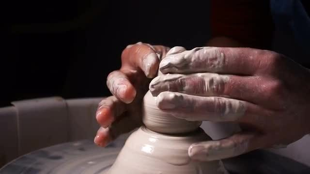 Potter Molding Clay: Stock Video