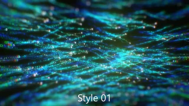 Binary Codes Glowing Threads: Stock Motion Graphics