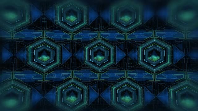 Futuristic Hexagon Heads Up Display: Stock Motion Graphics