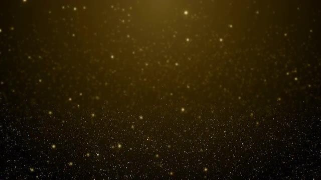 Gold Particles Floating Background Loop: Stock Motion Graphics