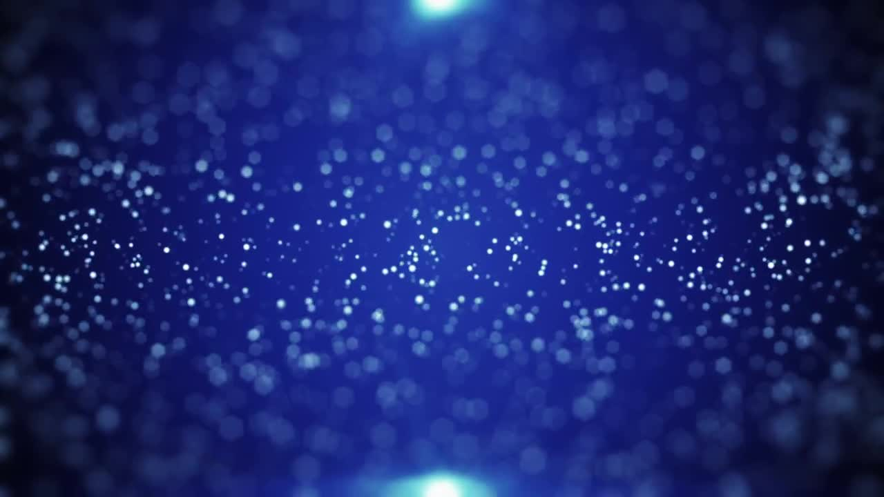 Blue Background With Sparkling Particles - Stock Motion Graphics | Motion