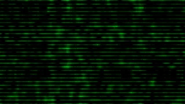 Distortion Green Lines 4K Background: Stock Motion Graphics