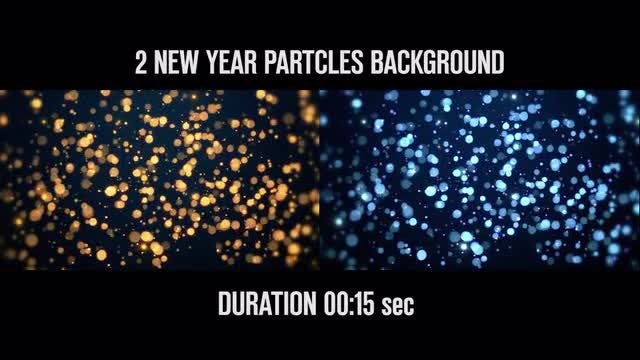 New Year Particle Backgrounds: Stock Motion Graphics