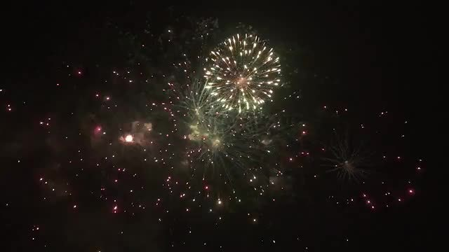 Holiday Fireworks: Stock Video