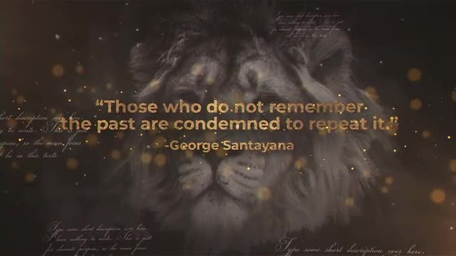 History Quotes: After Effects Templates