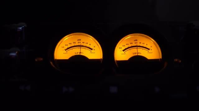 Analog Music Meters: Stock Video