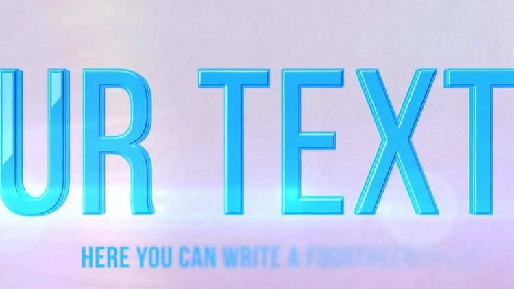 Bright Text: After Effects Templates
