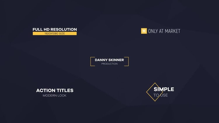 20 Simple Titles Pack: After Effects Templates