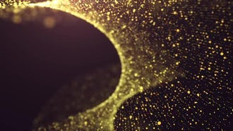 Gold Particles: Motion Graphics