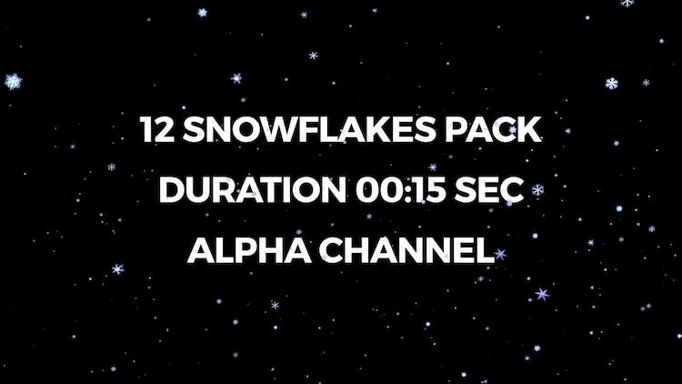 12 Snowflakes Pack: Stock Motion Graphics