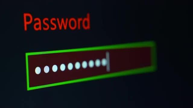 Password Entry  Process: Stock Video