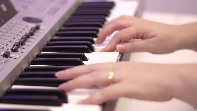 Hands On Piano: Stock Video