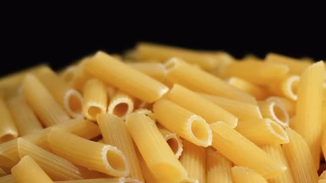 Close-Up Of Pasta: Stock Video