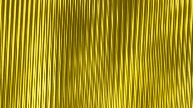 Gold Metallic Corrugated 4K Wall: Stock Motion Graphics
