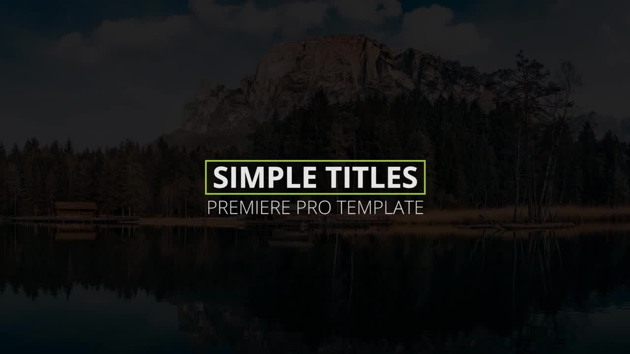 simple titles premiere pro templates motion array