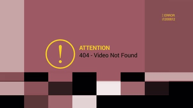 Video Error Opener: After Effects Templates