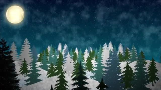 Snowy Hills Background: Stock Motion Graphics