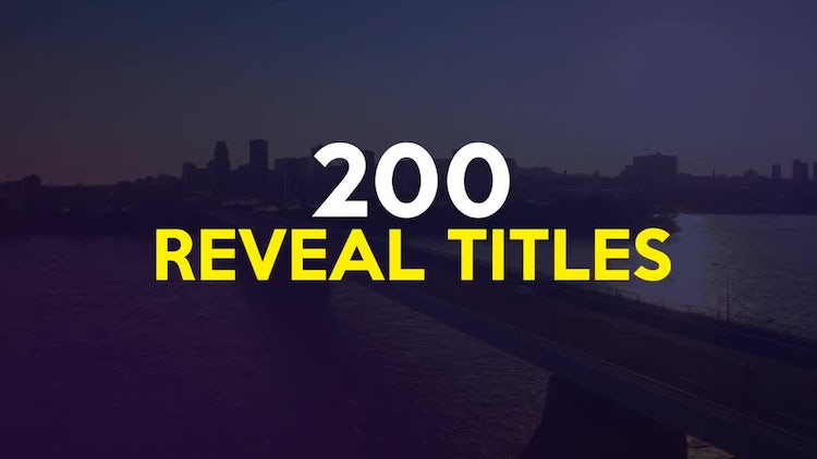 Big Pack 200 Reveal Titles Motion – After Effects Templates Free Download