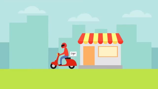 Food Delivery Animation: After Effects Templates