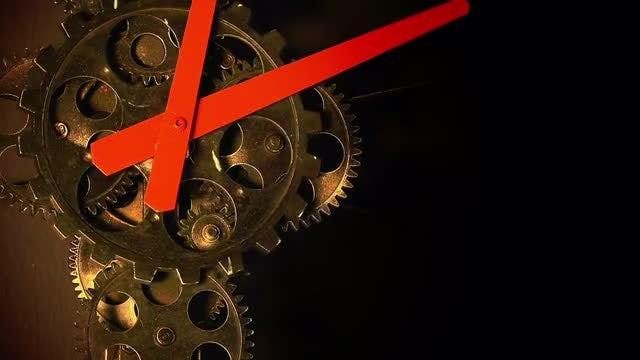 Grunge Clock Gears: Stock Video
