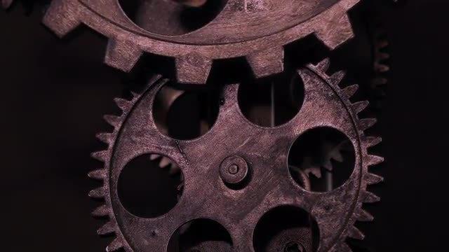 Rusty Grunge Clock Gears: Stock Video