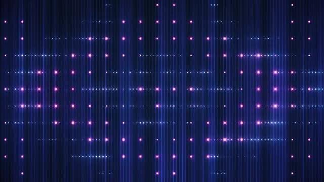 VJ LED Red-Blue Background Shine: Stock Motion Graphics