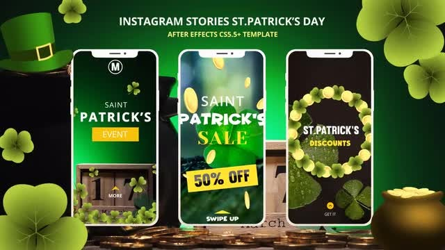 Instagram Stories St.Patrick's Day: After Effects Templates