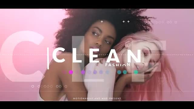 Clean Fashion Opener: After Effects Templates