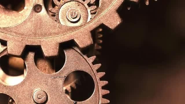 Rusty Clock Gears: Stock Video