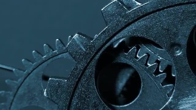 Clock Gears Rotating: Stock Video