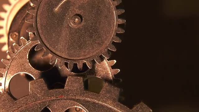 Rusty Metallic Clock Gears: Stock Video