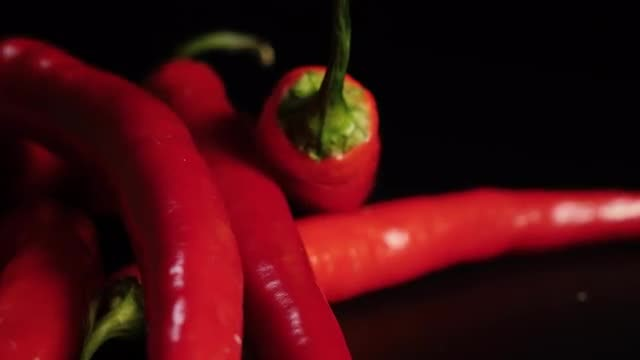 Close-Up Of Peppers: Stock Video