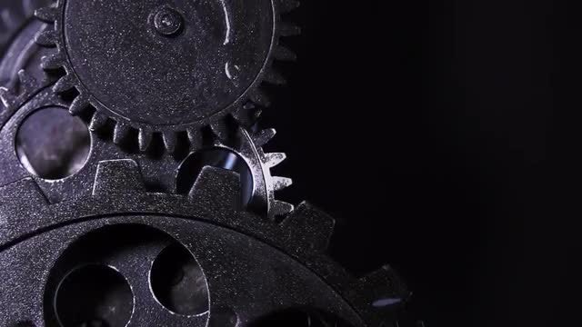 Close-Up Of Clock Gears: Stock Video
