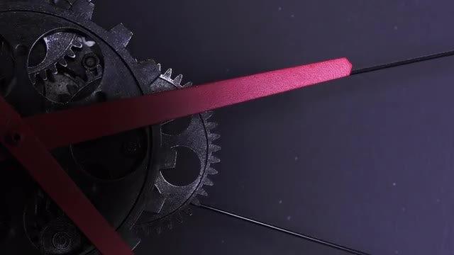 Old Grunge Clock Gears: Stock Video