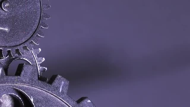 Grey Grunge Clock Gears: Stock Video